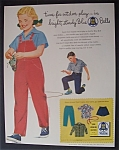 1954 Blue Bell Clothes with Little Girl & Marbles