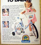 Click to view larger image of 1984 Murray Rainbow Brite Bicycle/Bike with Little Girl (Image2)