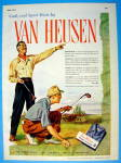 Click to view larger image of 1945 Van Heusen Shirts with Men Golfing (Image1)