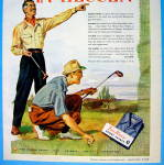 Click to view larger image of 1945 Van Heusen Shirts with Men Golfing (Image2)