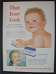 1954 Ivory Soap with Baby Holding a Hair Brush