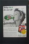 1955  7 Up with Woman Drinking a Bottle of 7 Up