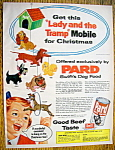 1955 Pard Dog Food with Lady and the Tramp Mobile