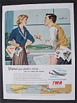 Vintage Ad: 1951 Trans World Airlines