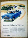 Click to view larger image of 1955 Chevrolet with Man & Woman Driving In Chevy (Image1)