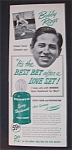 1951  Mennen Spray Deodorant  with  Bobby  Riggs
