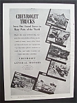 Click here to enlarge image and see more about item 5544: Vintage Ad: 1943  Chevrolet  Trucks