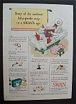 1943 Swan Soap with Story Of Sudsiest Baby Gentle Soap