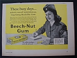 1942 Beech-Nut Chewing Gum with Woman Soldier