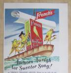 Click to view larger image of 1949 French's Bird Seed with Birds on a Boat  (Image3)