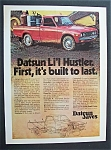 Click here to enlarge image and see more about item 5632: Vintage Ad: 1975  Datsun  Li'l  Hustler