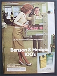 1976  Benson  &  Hedges  100's  Cigarettes