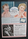 1941 Ivory Soap with a Woman & a Baby