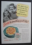 1940 Kellogg's Corn Flakes with a Mother & Daughter