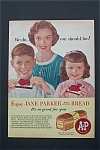 1956 Jane Parker Bread with Mother & Children