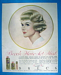 Vintage Ad: 1961 Breck Hair Set Mist w/ Breck Woman