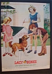 1975 Lazy Bones Shoes with 3 Children & Dog