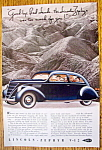 Click to view larger image of Vintage Ad: 1937 Lincoln-Zephyr V-12 (Image1)