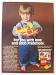 1978 Lego Pre-School Building Sets w/Child Playing