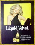 Click to view larger image of 1978 Black Velvet Whiskey with Model Cheryl Tiegs (Image1)