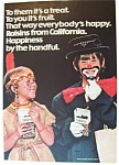 1974 California Raisin w/Children Dressed For Halloween