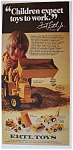 1974 Ertl Toys with Boy Playing with Backhoe