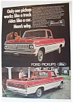 Click here to enlarge image and see more about item 5889: Vintage Ad: 1970 Ford  Pickups