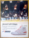 Ad:1985 Brooks Basketball Shoes w/ Dominique Wilkins