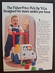 1989 Fisher-Price Pick Up 'N Go with Boy Walking