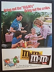 Vintage Ad: 1986 M & M Plain & Peanut Chocolate Candies