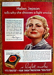 Click here to enlarge image and see more about item 5: Vintage Ad: 1937 Lucky Strike Cigarettes w/Helen Jepson