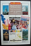 1989 Walt Disney World Vacation Guide w/Areas in Disney