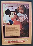 1981 Knickerbocker Toys w/ Girl Reading To Mickey Mouse