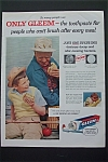 1956 Gleem Toothpaste w/ Boy & Grandpa Having Sandwich