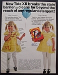 1969 Tide Detergent with Girl in Yellow Dress