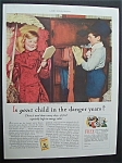 1935 Cream Of Wheat Cereal with Girl & Boy Playing