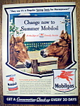 1943 Mobil Gas with Two Horses
