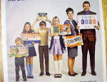 Click to view larger image of 1970 Milton Bradley Board Games w/Family Holding Games (Image2)