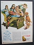 1972 La-Z-Boy Reclining Chair with Dad on Father's Day