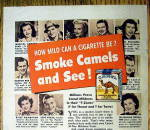 Click to view larger image of 1950 Camel Cigarettes with Pinza, Piazza, Fabray & More (Image2)
