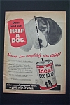 1956 Ideal Dog Food with Just Half Of A Dog