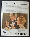 1931 Camel Cigarettes w/Woman & Man Smoking a Cigarette