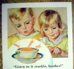 Click to view larger image of 1931 Kellogg's Rice Krispies Cereal w/Boy & Girl & Bowl (Image2)