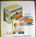 Click to view larger image of 1931 Shredded Wheat with Girl Holding Box of Cereal (Image2)