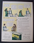 Vintage Ad: 1931 Rinso Laundry Detergent