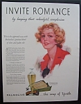 1933 Palmolive Soap with a Beautiful Woman