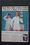 1956 Rinso Blue Detergent with Which Girl Washed Shirt