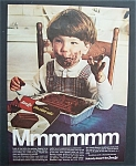 1969 Sara Lee Chocolate Cake w/ Little Boy Eating Cake