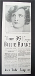 1931  Lux  Toilet  Soap  with  Billie  Burke