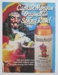1990 Captain Morgan Spiced Rum with Pirate & Drinks